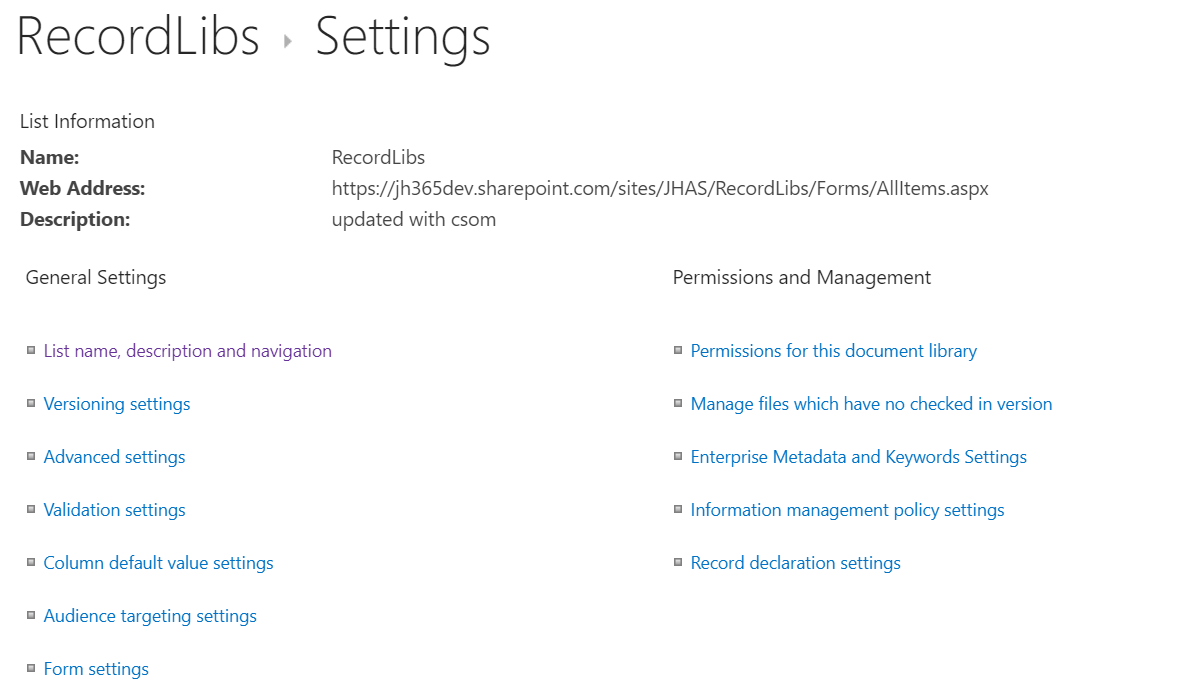 """How to delete a """"locked"""" SharePoint Library – My SharePoint Log"""